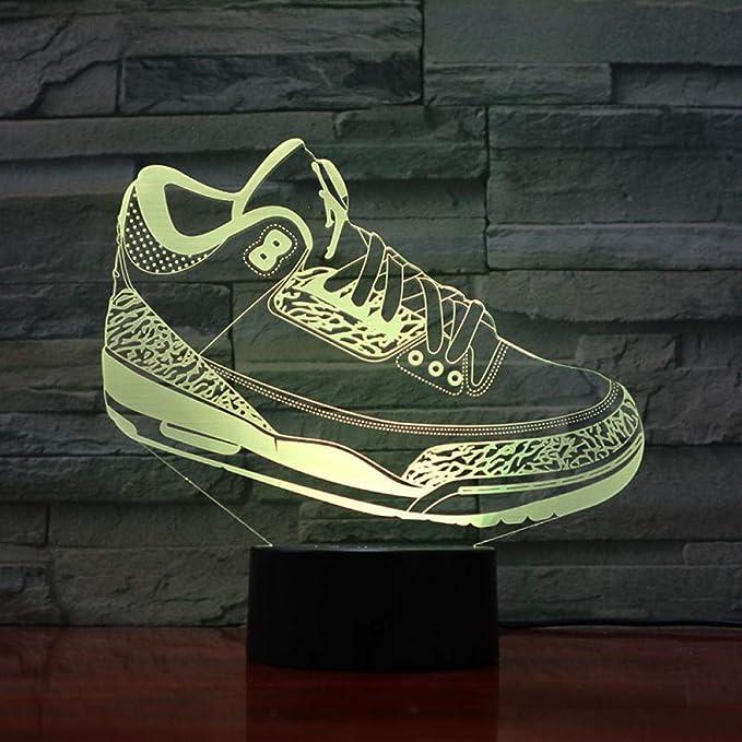 3D Night Light Baloncesto Michael Jordan Usb Led Niño Niño Niño ...
