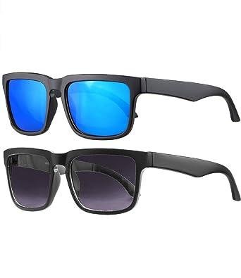 Premium Herren Sonnenbrille Polarisiert Designer Blau verspiegelt - Blue Style TIKFM9oU