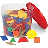 Learning Resources LER0134 Plastic Pattern Blocks Set, 0.5cm (250 Piece)