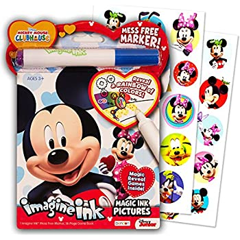Disney Mickey Mouse Clubhouse Imagine Ink Coloring Book and Sticker Pack Set (Includes Mess Free Marker)