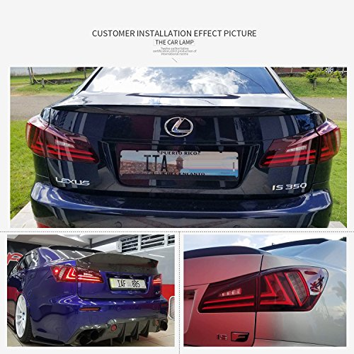 Amazon Com Led Tail Lights For 2006 2012 Lexus Is250 Is350 Isf Tail