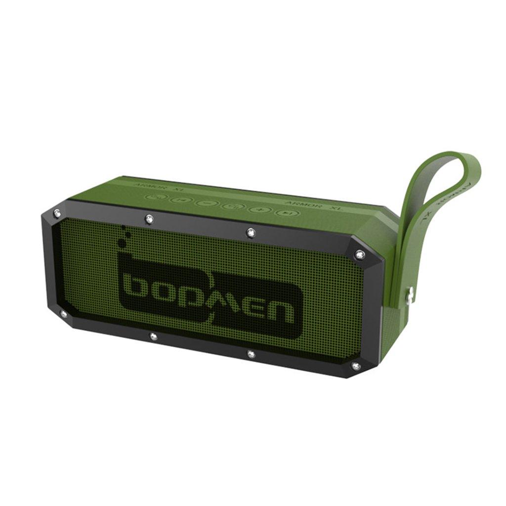 Global 屋外ワイヤレスのBluetoothスピーカーサブウーファーカーオーディオポータブルカード (Color : 緑)   B07PWP67GV