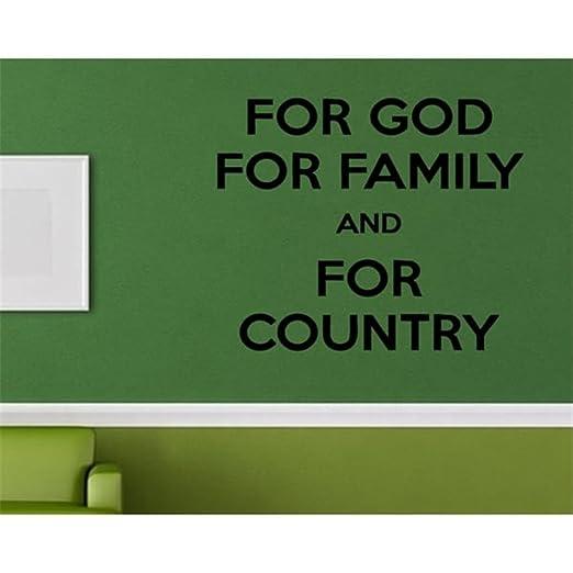 Pegatina De Pared Frases Para La Familia Dios País