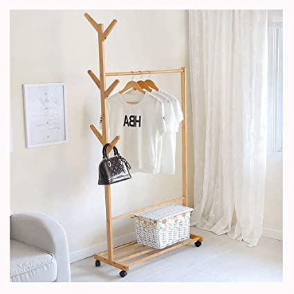 Hyvaluable Percheros Mobile Coat Rack Landing Coat Fácil ...