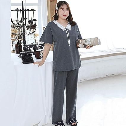 Conjunto de pijama clásico de talla grande para mujer de 2 ...