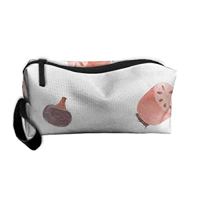 NEW Lotus Root And Garlic Women¡¯s Travel Cosmetic Bags Small Makeup Clutch  Pouch 69707deb75
