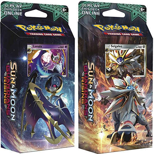 Pokemon Sun & Moon Guardians Rising Set of Both Theme Decks: Solgaleo & Lunala