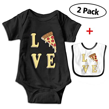 Amazon.com  Robprint Pizza Lover Baby Boys  Cotton Short-Sleeve Bodysuits  Outfit  Clothing 76bd26a08