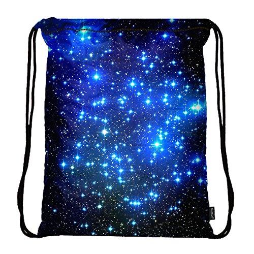 Star All Backpack Drawstring - Meffort Inc Lightweight Drawstring Bag Sport Gym Sack Bag Backpack - Galaxy Stars