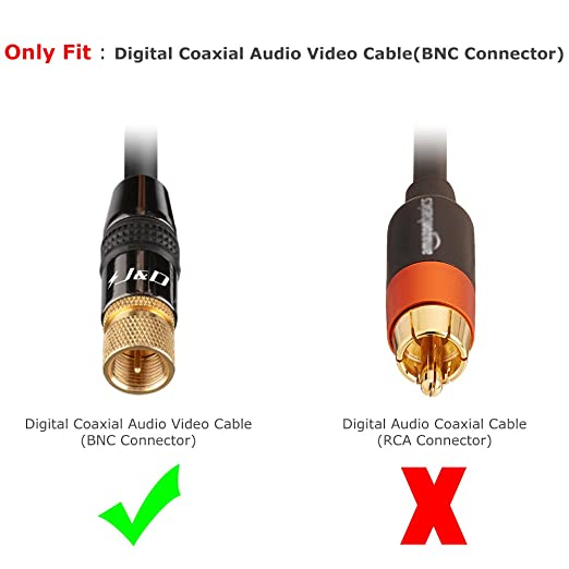 Amazon.com: [Gold-Plated] Coaxial Cable, J&D Coaxial Cable Weather Proof Tri-Shielded UL CL2 In-Wall Rated RG6 Digital Audio / Video (for TV, Antenna, ...