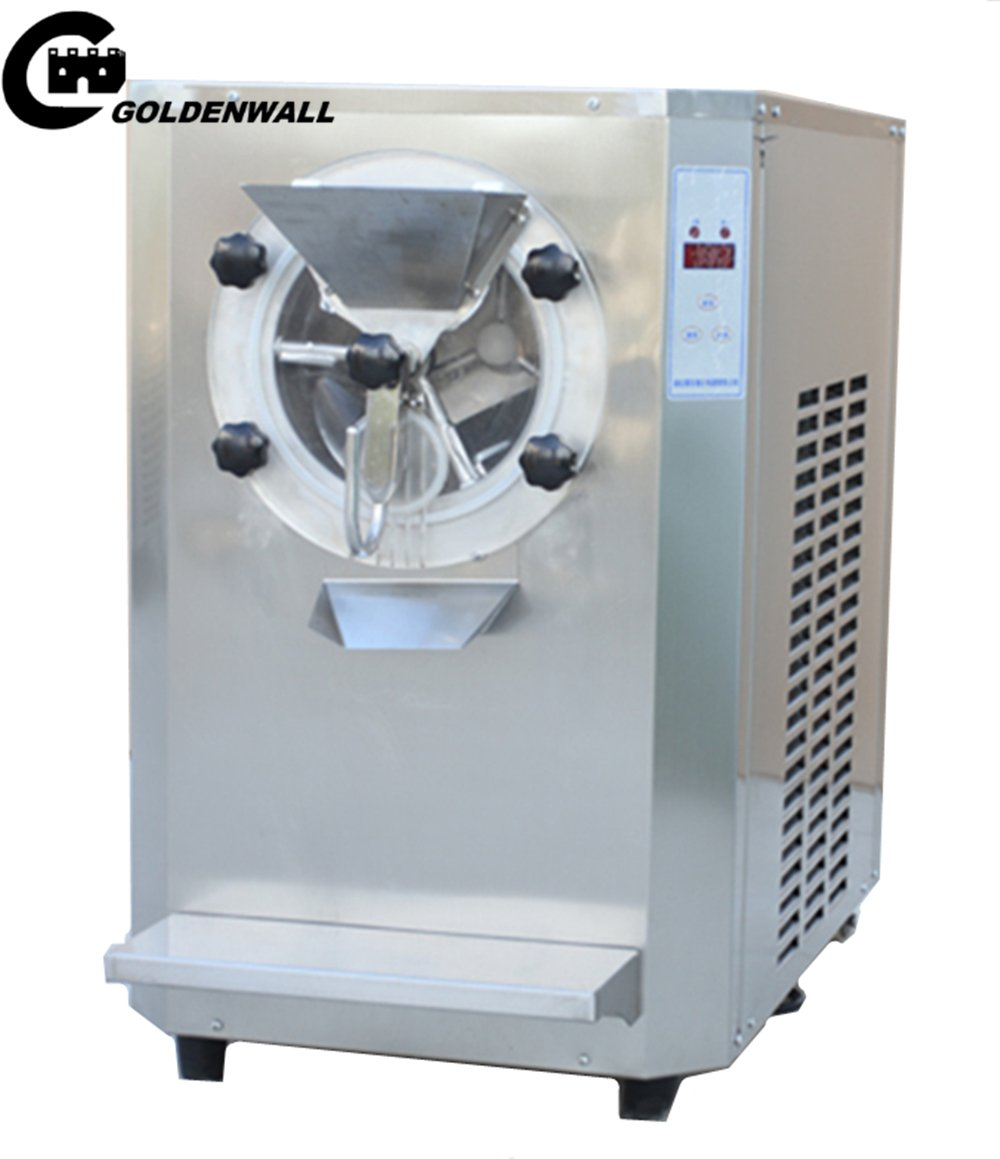 Commercial Vertical ice cream machine a batch freezer machine Ice Cream Maker hard Ice cream Machine with 6L Cooling cylinder CE Speed: 20L/H