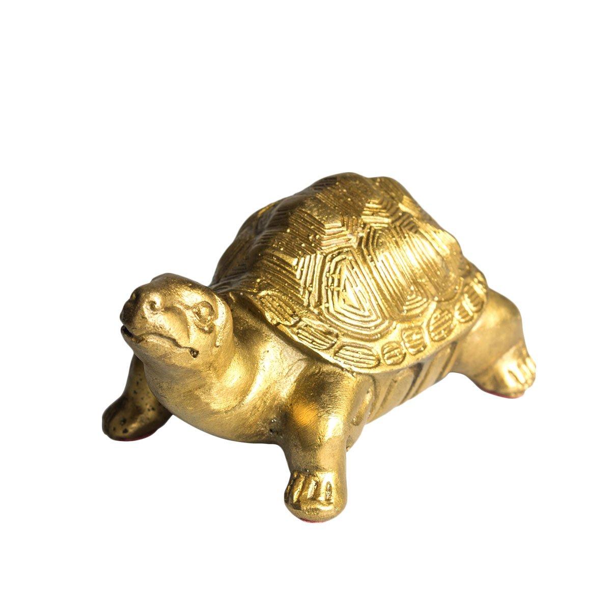 Brass Millennium Turtle Statue Home Decorative Collection