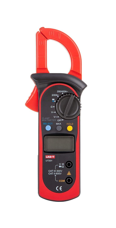 UNI-BALL T UT201//mie0067/AC 2/A ~ 400/A Pince multim/ètre num/érique AC//DC Testeur de tension AC Courant R/ésistance Testeur//Ohm M voiture Range