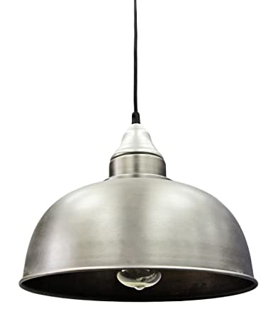 Stainless Steel Pendant Light modern vintage industrial ceiling pendant lamp shade stainless steel antique finish for dining room bar clubs restaurants m006 amazon co uk lighting