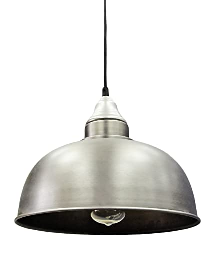 Modern vintage industrial ceiling pendant lamp shade stainless steel modern vintage industrial ceiling pendant lamp shade stainless steel antique finish for dining room bar mozeypictures Gallery