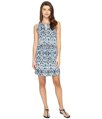8096814b75 Tommy Bahama Women's Ikat High Neck Short Dress Cover-Up Vivid Blue  Swimsuit Top