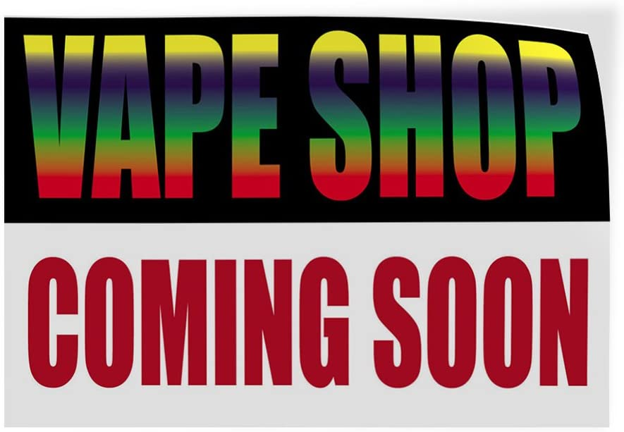 Decal Sticker Multiple Sizes Vape Shop Now Open Business Vape Shop Now Open Outdoor Store Sign White 54inx36in Set of 2