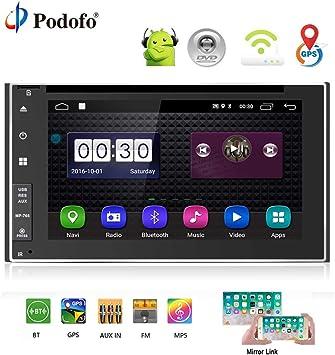 Podofo Android 6.0 Universal 2 Din Car Radio Reproductor DVD del ...