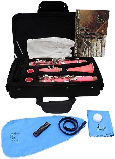 xie @ rosa clarinete negro tubo viento instrumento distribución ...