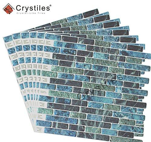 Crystiles Diy Peel Stick Backsplash For Kitchen And: Crystiles Peel And Stick Self-Adhesive DIY Backsplash