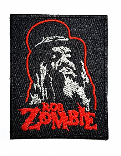 Rob Zombie Music Band Logo Patch Rock Heavy Metal Punk Music Band Logo Patch Sew Iron On Embroidered Badge Sign Costume Gift