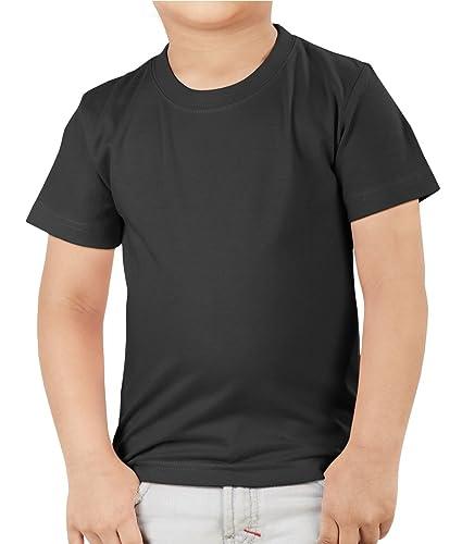 NEEVOV Baby's & Boy's Round Neck Cotton Black T-Shirt-8 Boys' T-Shirts at amazon