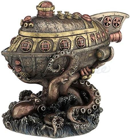 Steampunk Submarine Vs Octopus Boîte à bijoux