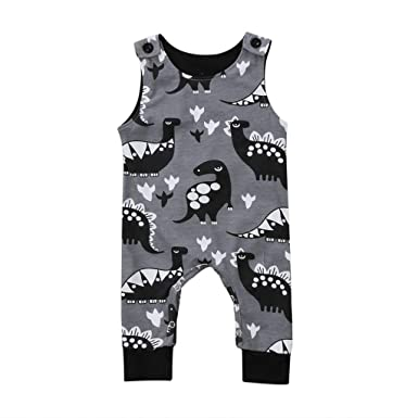 Efbj Newborn Baby Boys Rompers Sleeveless Cotton Onesie,Hedgehog Pink Bodysuit Winter Pajamas