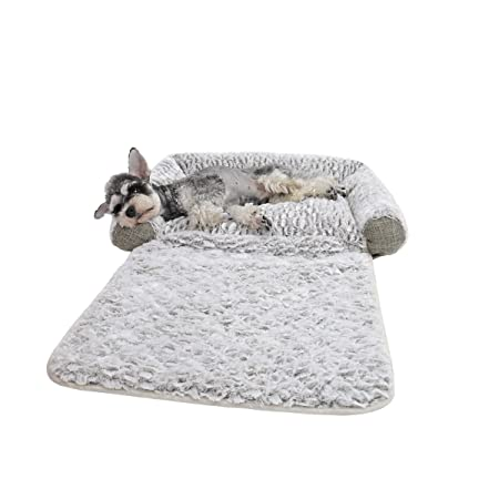 PAWZ Road Dog Bed, 3 in 1 Pet Mat Cushion for Small Dogs and Cats-Snuggly Orthopedic Sleeper with More Filling on 3 Sides-Nonslip and Waterproof Bottom