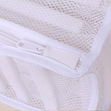 Sneaker Trainer Linge /à laver Sac /étui Organiseur de chaussures de protection pour machine /à laver durable avec fermeture /Éclair free size blanc Sac /à chaussures en maille filet /à linge