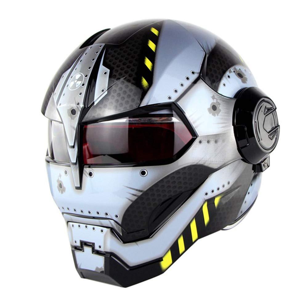 MTCTK Moto Iron Man Casco Integrale trasformatori Flip up Casco D O T Certificato Moto dEpoca Casco Integrato