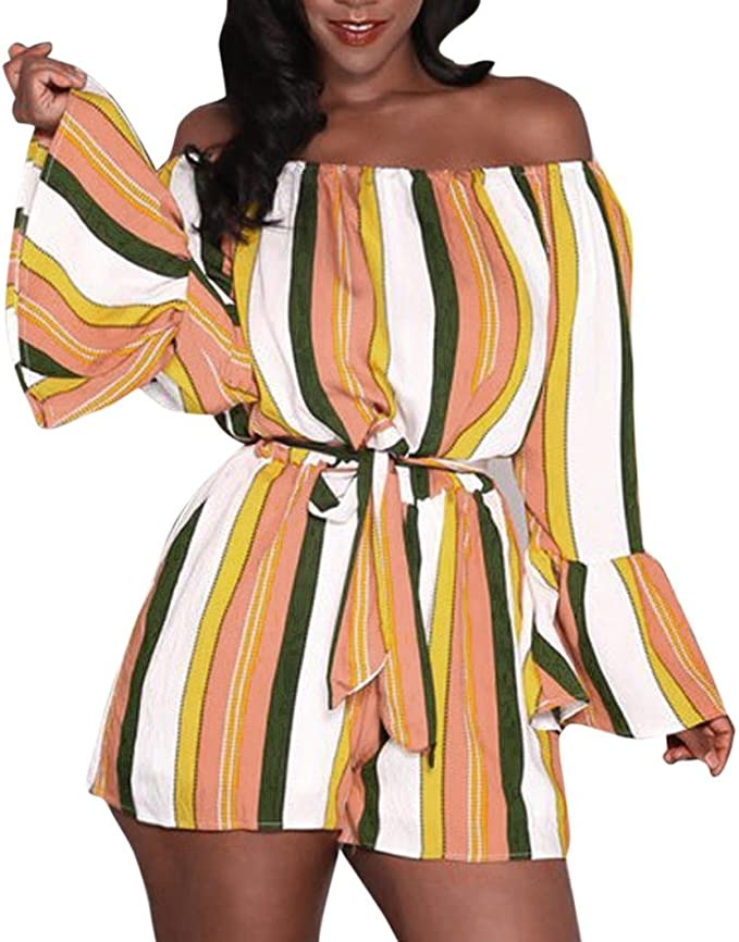 Minetom Donna Elegante Casuale Estivo Scollo a V Senza Maniche Tuta Corta Pagliaccetto Pantaloncini Corti Jumpsuit Playsuit Clubwear
