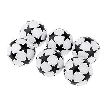 perfk Profesionales Bolas de Plástico para Entrenamientos y Competiciones de Fútbol de Mesa - Negro: Amazon.es: Deportes y aire libre
