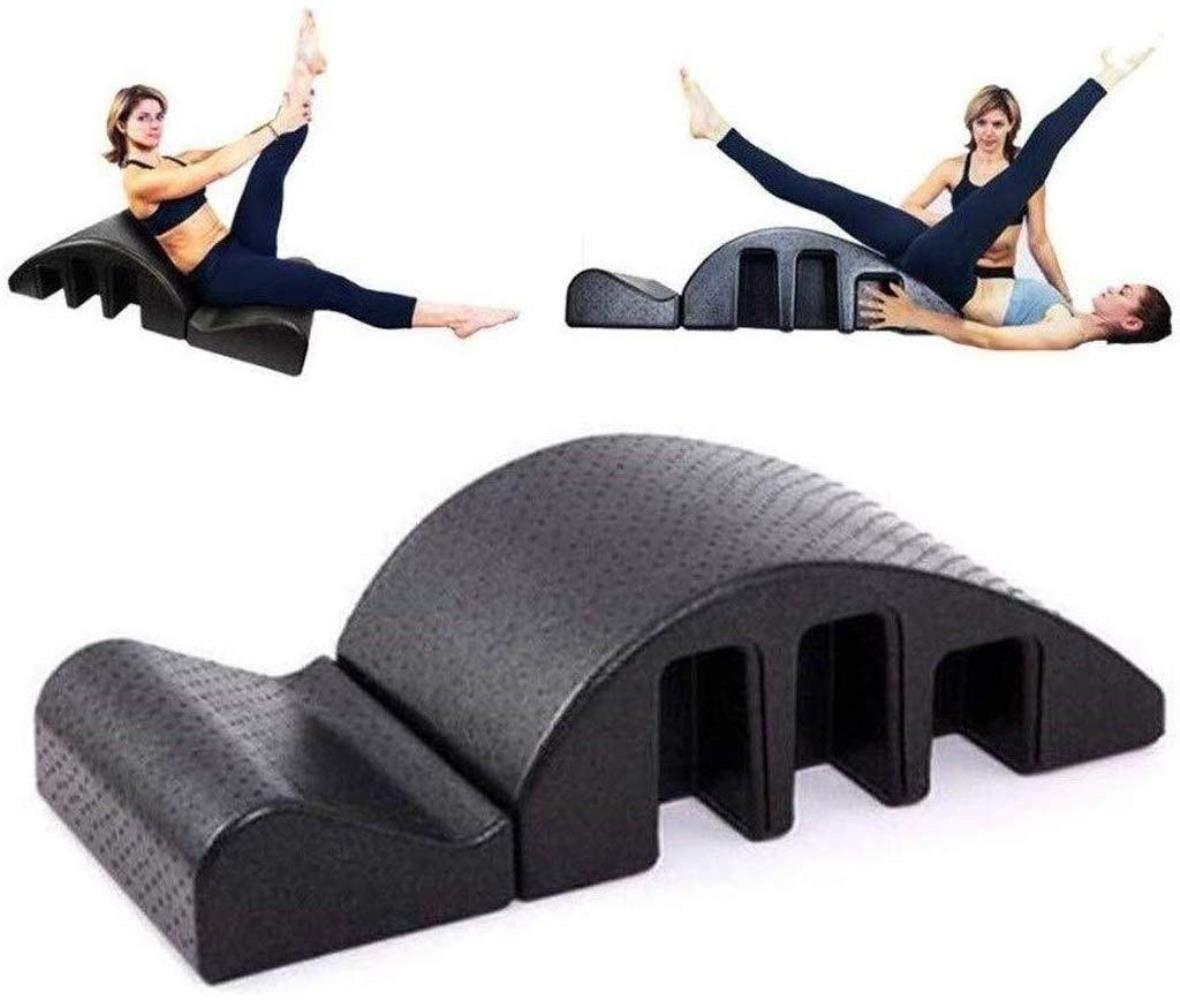 Yoga columna vertebral Masaje Arco cama Tronco de m/últiples funciones de Pilates Mesa de masajes alineaci/ón Back Pain Relief Volver Curva Pilates Spine Corrector de yoga Correcci/ón Salud espuma cifosi