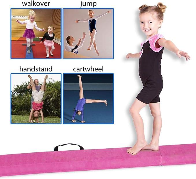 plegable duradera YOSOO Barra de equilibrio para gimnasia 2,2 m