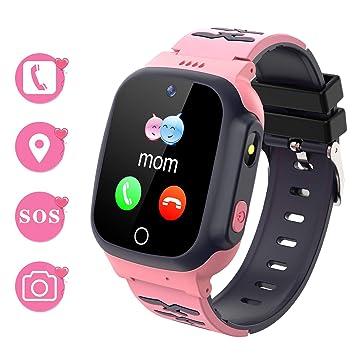 Winnes Reloj Inteligente para Niños Teléfono Smartwatch LBS localizador SOS Alarma por Chat de Voz Cámara Reloj Infantil para Niño Niña de 3-12 Años ...