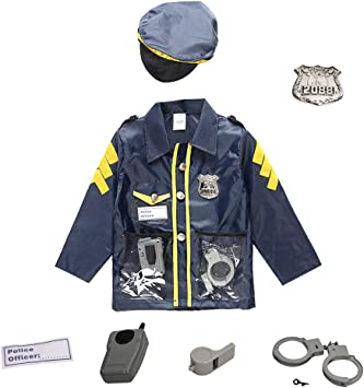 Boy/'s UK Policeman Office Fancy Dress Costume Kids Party Role Play Book Day Fun