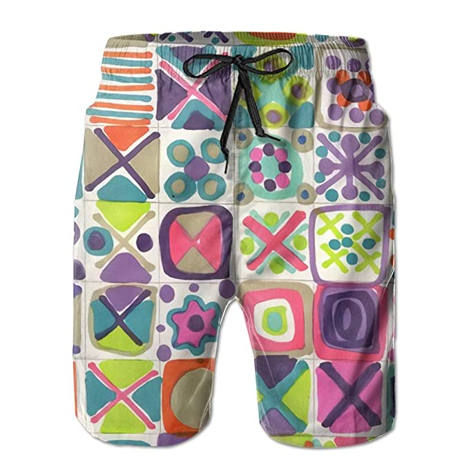 Amazon.com: Draw colorful Squares Printing Mens Quickly ...