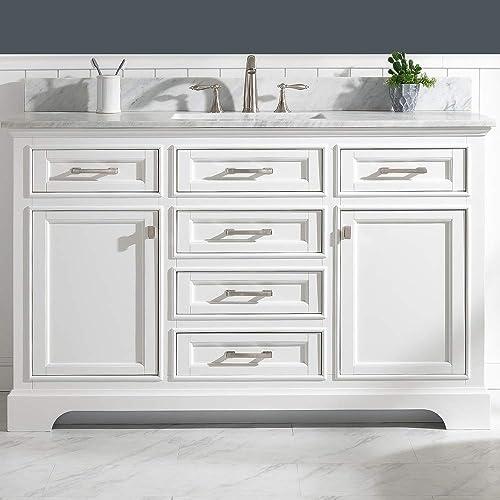 Luca Kitchen Bath Savanna 54″ Single Bathroom Vanity Set