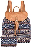 Lily Queen Casual Canvas Backpack Girls Fashion Shoulder Bag Rucksack for Women Teens