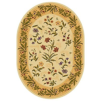 Summer Flowers Beige Oval - 8 X 11 Nylon Area Rug. Printed area rugs are crafted to include vibrant designs and colors combinations to complement any decor. for a limited time!