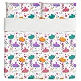 Tutu Dress and Accessories Duvet Bed Set 3 Piece Set Duvet Cover - 2 Pillow Shams - Luxury Microfiber, Soft, Breathable