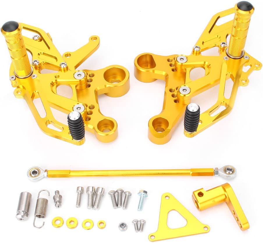 Newsmarts Motorcycle Racing Billet Adjustable Footrests Rearsets Foot Pegs Compatible with Yamaha MT09 FZ09 2014-2016