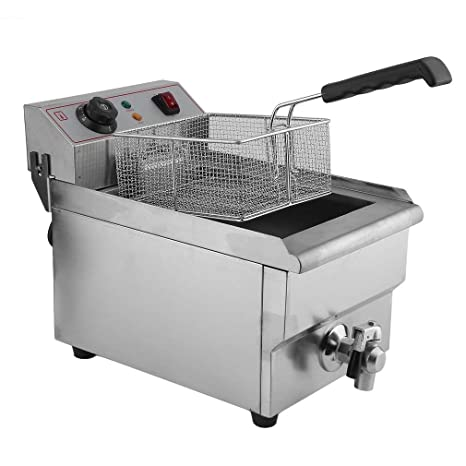 3000 W Electric de acero inoxidable freidora Deep Food Fryer - Freidora eléctrica Single Reservorio 10liter