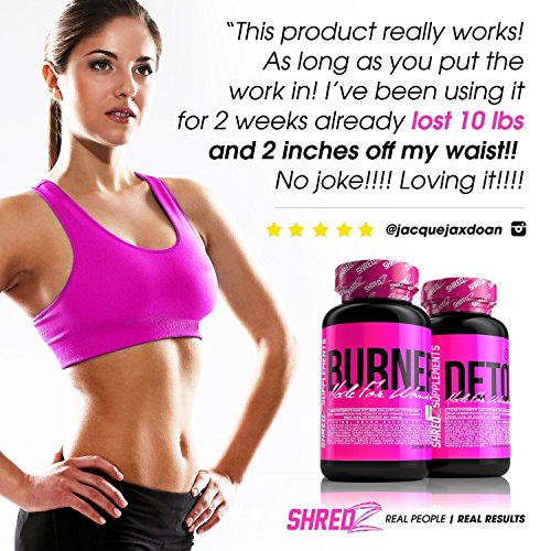 SHREDZ® Sexy & Lean Supplements for Women - Lose Weight, Tone Up, Best Ingredients! (60 Day Supply)