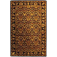 Safavieh Antiquities Collection AT51B Handmade Traditional Oriental Dark Plum and Gold Wool Area Rug (5 x 8)