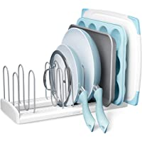 YouCopia StoreMore Adjustable Pan and Lid Rack, Large, White