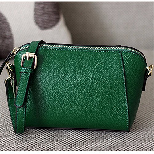 Las mujeres solo bolso lady Bag Mini Bolsa de cuero simple cruz oblicua moda mochila de ocio, 17*8*13cm, vino rojo Green