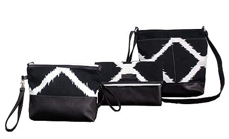 7c9f8131368 Buy Dekor World Cotton Black Ikat Printed Cross Body Multi Utility ...