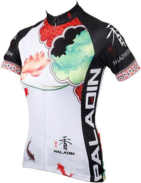 yyqx container Maillot Ciclismo Deportes y Aire Libre Camisa de Manga Corta de Elemento Chino para Mujer, Ropa de Bicicleta, Traje, Camisa de Manga Corta de Verano para Mujer: Amazon.es: Deportes y